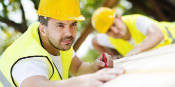 Craftsmen building a Passive House